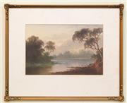 Sale 8368A - Lot 10 - P. Campbell - Untitled (River Scene) 18 x 28 cm