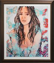 Sale 8459 - Lot 536 - David Bromley (1960 - ) - Tziporrah 93 x 77cm (frame size: 114.5 x 99cm)