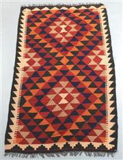 Sale 8438K - Lot 6 - Maimana Afghan Kilim Rug | 178x98cm, Pure Wool, Handwoven in Northern Afghanistan using durable local wool. Traditional slit weave k...