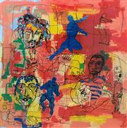 Sale 8657E - Lot 5049 - Yosi Messiah (1933 - 2017) - Boys are Beautiful 100 x 100cm (frame: 103 x 103cm)