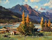 Sale 8764 - Lot 595 - Gaston De Vel (1924 - 2010) - Wairau Valley, 1983 34 x 44cm