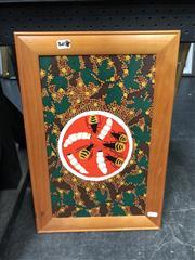 Sale 8865 - Lot 2058 - Raelene KupalaHudson Bush Food acrylic on canvas, 39.5 x 23cm (framed)