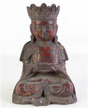 Sale 8935 - Lot 40 - A Cast Metal Seated Buddha Figure (H 20cm)