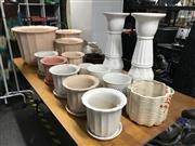 Sale 8953 - Lot 2085 - Large Collection of Ceramic Planters, Pots & 2 Stands