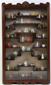 Sale 8997A - Lot 690 - Chinese timber display cabinet with extensive miniatures