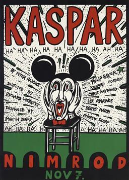 Sale 9096 - Lot 588 - Martin Sharp (1942 - 2013) Kaspar screenprint, ed. 877/1000 58.5 x 45 cm (frame: 72 x 54 x 2 cm) signed lower right