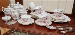 Sale 9098H - Lot 51 - A Royal Crown Derby afternoon tea service for six persons comprising six cups and saucers, six cake plates, one sandwich tray, a sid...