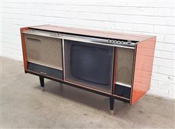 Sale 9108 - Lot 1001 - Vintage Astor televison & record player (h75 x w140 x d47cm)