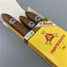 Sale 9165 - Lot 688 - Montecristo No.2 Cuban Cigars - pack of 3 cigars, removed from box dated July 2017
