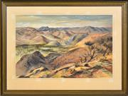 Sale 8389 - Lot 512 - Kenneth Jack (1924 - 2006) - Mt McTaggart from Above Grindells Hut, S.A. 1973 34.5 x 52.5cm