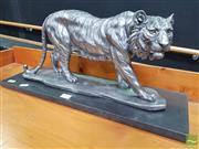 Sale 8480 - Lot 1002 - Silvered Tiger Statue