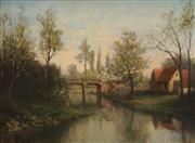 Sale 8492 - Lot 597 - Mathieu Kohler (1841 - 1916) - Alsace Countryscape 25.5 x 30cm