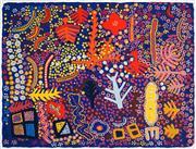 Sale 8696 - Lot 584 - Marlee Napurrula - Flowers and Trees 66 x 87.5cm