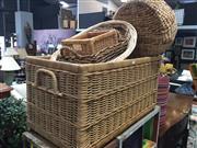 Sale 8676 - Lot 1128 - Wicker Trunk with Baskets