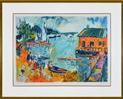 Sale 8347A - Lot 63 - Artisit Unknown (XX) - Wharf Scene 46 x 64cm