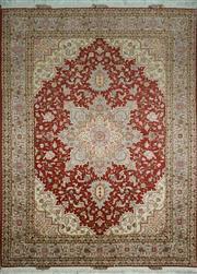 Sale 8402C - Lot 47 - Superfine Persian Silk Tabriz 207cm x 153cm