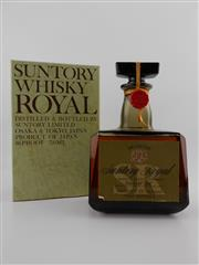 Sale 8498 - Lot 1710A - 1x Suntory Whisky Suntory Royal Japanese Whisky - distilled at The Yamazaki Distillery, old botting, in box