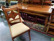 Sale 8570 - Lot 1012 - Timber Dining Suite inc Extension Table and 6 Chairs (79 x 180 x 91cm)