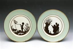 Sale 9093P - Lot 74 - Pair of Royal Copenhagen Hans Christian Anderson Childrens Plates, diam. 25cm.