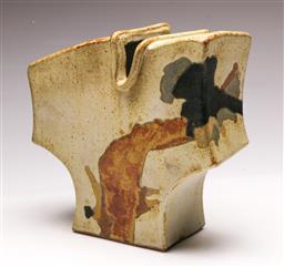 Sale 9131 - Lot 38 - Studio pottery torso form vase (H:22cm W:23cm D:9cm)