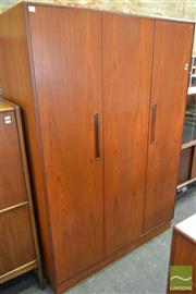 Sale 8528 - Lot 1090 - G-Plan 3-Door Teak Wardrobe