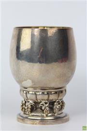 Sale 8594 - Lot 3 - George Jensen Silver Wine Cup