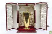Sale 8618 - Lot 1 - 1952 AJC Sydney Cup 15ct Gold Trophy for Opulent; engraved Australian Jockey Club, Sydney Cup, Messrs. S Blau & J. Harris Opulen...