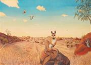 Sale 8642 - Lot 553 - Heinz Steinmann (1943 - ) - Rock Wallaby, Port Douglas Wilderness 73 x 103cm