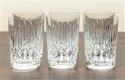 Sale 8871H - Lot 122 - A set of 6 large vintage Scottish Edinburgh crystal elaborate hand cut whisky glasses, Height  11cm