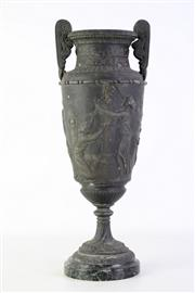 Sale 8902 - Lot 31 - A French Made Greek Inspired Spelter Twin Handle Urn (H 45cm)
