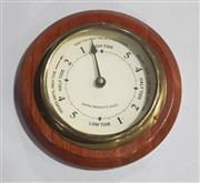 Sale 8976N - Lot 303 - Brass and Timber Cased Wall Mount Tide Indicator (d:205mm)