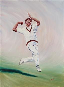 Sale 9139 - Lot 2074 - Ken Farrah - Craig McDermott (Billy The Kid) 75.5 x 55 cm (frame: 88 x 68 x 3 cm)