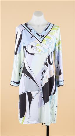 Sale 9250F - Lot 1 - A Emilio Pucci jersey print dress, size 40.