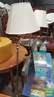 Sale 8390 - Lot 1578 - Pair of Brass Standard Lamps