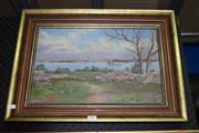 Sale 8419T - Lot 2027 - F. E. Jones (XIX - XX) - River Scene, 1906, oil on canvas laid on board, 38 x 43.5cm, signed and dated lower left