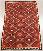 Sale 8438K - Lot 10 - Maimana Afghan Kilim Rug | 297x198cm, Pure Wool, Handwoven in Northern Afghanistan using durable local wool. Traditional slit weave ...