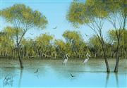 Sale 8492 - Lot 502 - Kym Hart (1965 - ) - Waterbirds 11.5 x 16.5cm