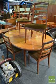 Sale 8545 - Lot 1051 - G-Plan Teak Table and Set of Six Chairs