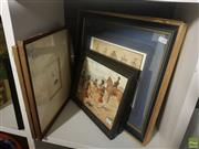 Sale 8595 - Lot 2092 - (3) Pairs of Assorted C19th Prints, including Still-Life Arrangements, Simkin Promolithographs, Botanical Engravings, framed various...