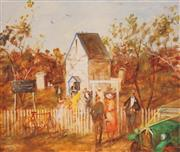 Sale 8650 - Lot 2014 - Hugh Sawrey (1919 - 1999) - The Bush Wedding 70 x 99cm (sheet size)