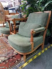 Sale 8672 - Lot 1013 - Pair of Fabric Upholstered Empire Style Chairs