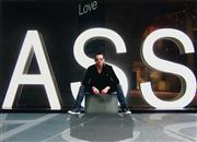 Sale 8822A - Lot 5146 - Dean Beck - Exit 09 - Love Ass 30.5 x 43cm