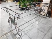 Sale 8971 - Lot 1050 - A Parterre Style Wrought Iron Garden Table Base (H:74 x L:200 x W:80cm)