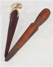 Sale 8976N - Lot 331 - Antique Belaying Pins x 2 (Longest - l:285mm)