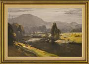 Sale 9080J - Lot 43 - Colin Parker - Morning upper Hunter river 60x90cm