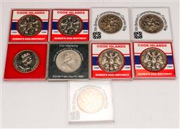 Sale 9104 - Lot 43 - A collection of New Zealand and Cook Island coins including 5x $5 uncirculated coins