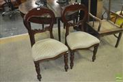 Sale 8310 - Lot 1630 - Pair of Balloon Back Chairs