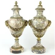 Sale 8399 - Lot 41 - French Marble & Gilt Bronze Pair of Urns