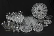 Sale 8436 - Lot 93 - Cut Crystal Drinking Glasses with Others Wares incl Continental Figural Vases