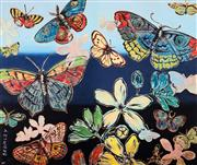 Sale 8575 - Lot 522 - David Bromley (1960 - ) - Butterflies 76.5 x 91cm (frame size: 114.5 x 99cm)